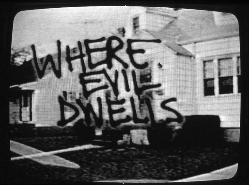 Screen shot, Trailer for the unfinished film Where Evil Dwells, Tommy Turner/David Wojnarowicz, 1986